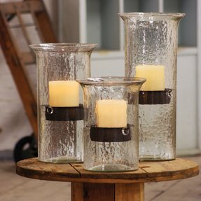 Rustic hurricane candle holders 7