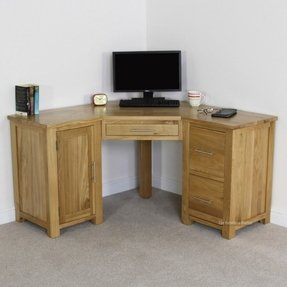 Rustic oak desk