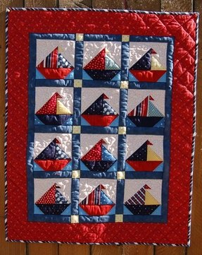 Salboat baby quilt from pipers quilts