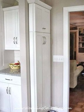 Skinny pantry cabinet