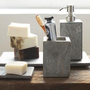 Slate bath accessories