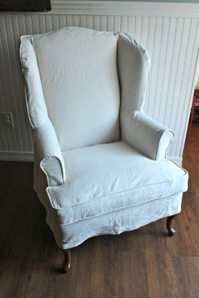 Exceptionnel Slipcovered Wingback Chair 2
