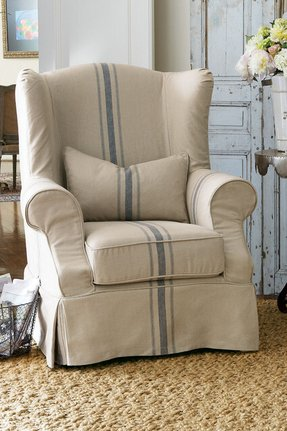 Slipcovered Wingback Chair - Foter