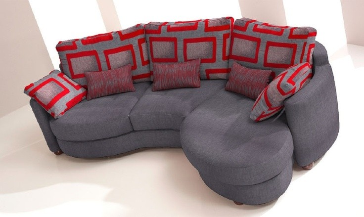 Exceptionnel Small Curved Sectional Sofa