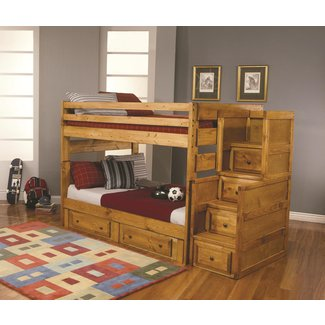 Solid Wood Bunk Beds With Stairs   Ideas on Foter