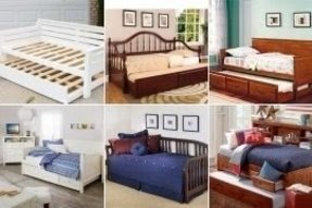 Solid wood daybed with trundle