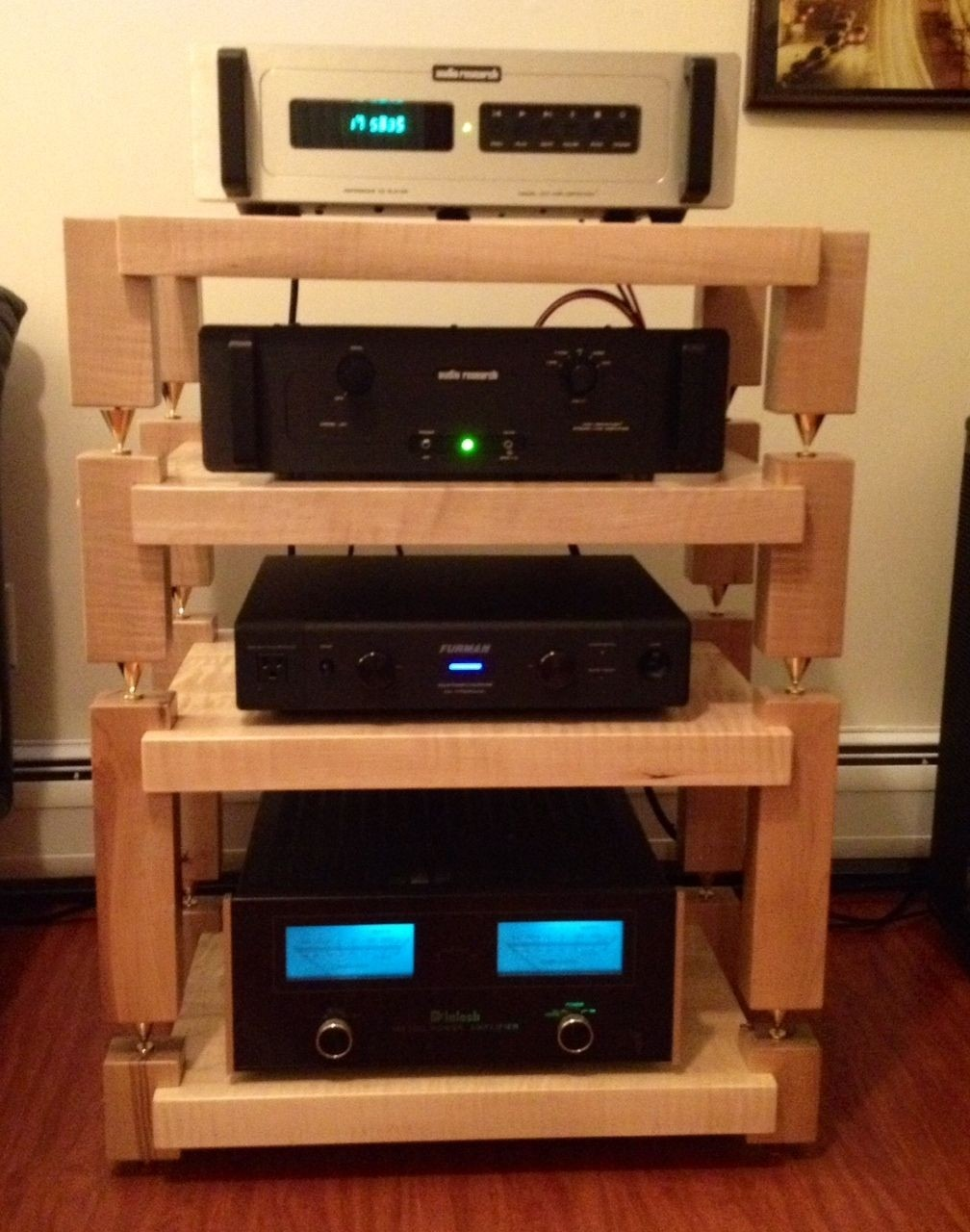 Steel Audio Rack