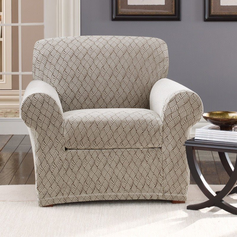 Superbe Stretch Braid Club Chair Slipcover
