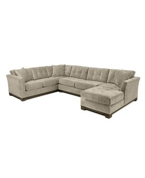 Suede sectional couch