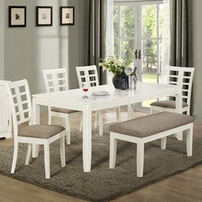 Rectangle Dining Table With Bench