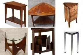 Triangle end tables