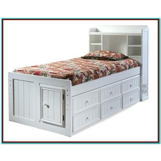 Trundle bed with bookcase