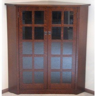 Tv corner cabinet oak mission furniture audio cds dvd