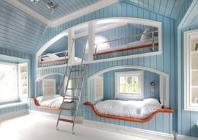 Wall mounted bunk beds