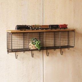 natural home frames p shelf organization decor wood wall metal storage lobby hobby hooks shelves with