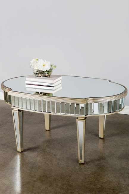 Delicieux Oval Mirrored Coffee Table   Ideas On Foter