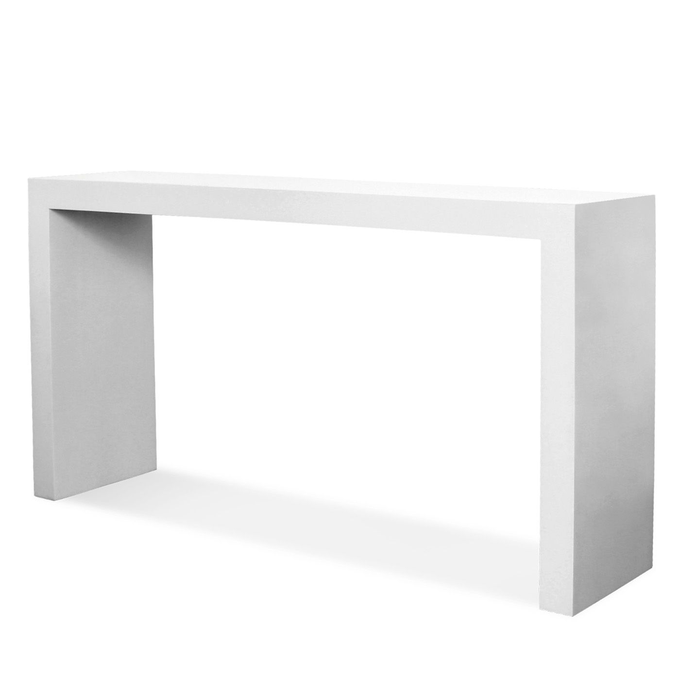 Beau White Lacquer Console Table 2