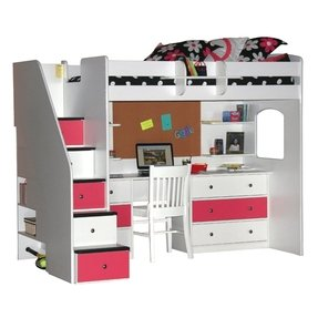 0d2b7fe9eb103 White Loft Bed With Desk And Stairs - Ideas on Foter