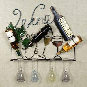 Awesome Metal Wine Bottle Holder Ideas On Foter Download Free Architecture Designs Salvmadebymaigaardcom