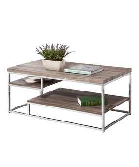Wood And Chrome Coffee Table 15