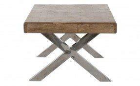 Wood Chrome Coffee Table 1