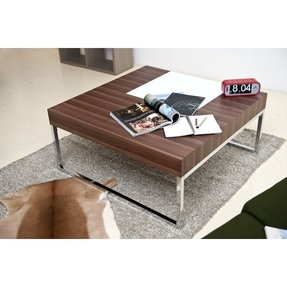 Wood Chrome Coffee Table