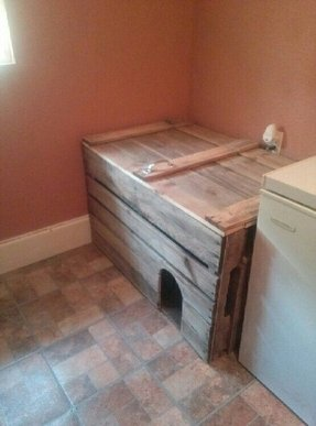 Wooden cat litter box furniture 1