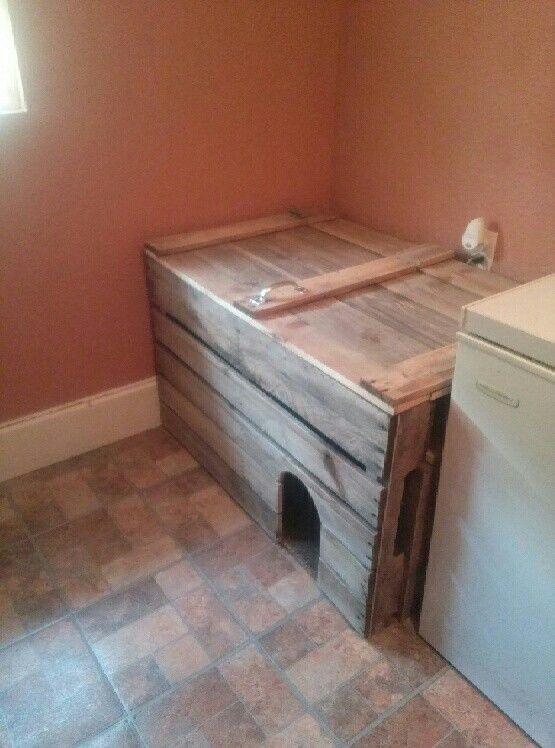 Wooden Cat Litter Box Furniture 1