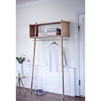 Wooden Shelf With Hanging Rod Ideas On Foter