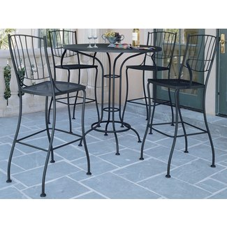 Wrought iron bar height table 1