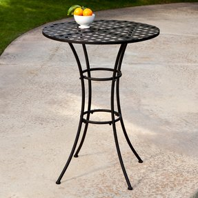 Wrought iron bar height table 2