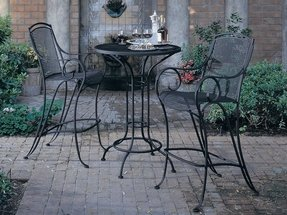Wrought iron bar height table
