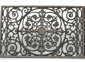 Wrought iron doormat 2