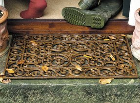 Wrought iron doormat 24