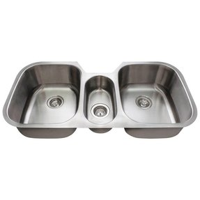 3 basin kitchen sink