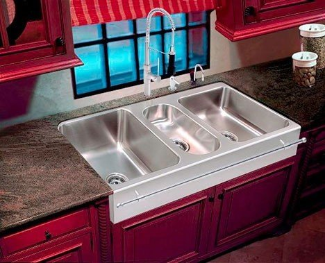 3 Bowl Kitchen Sink