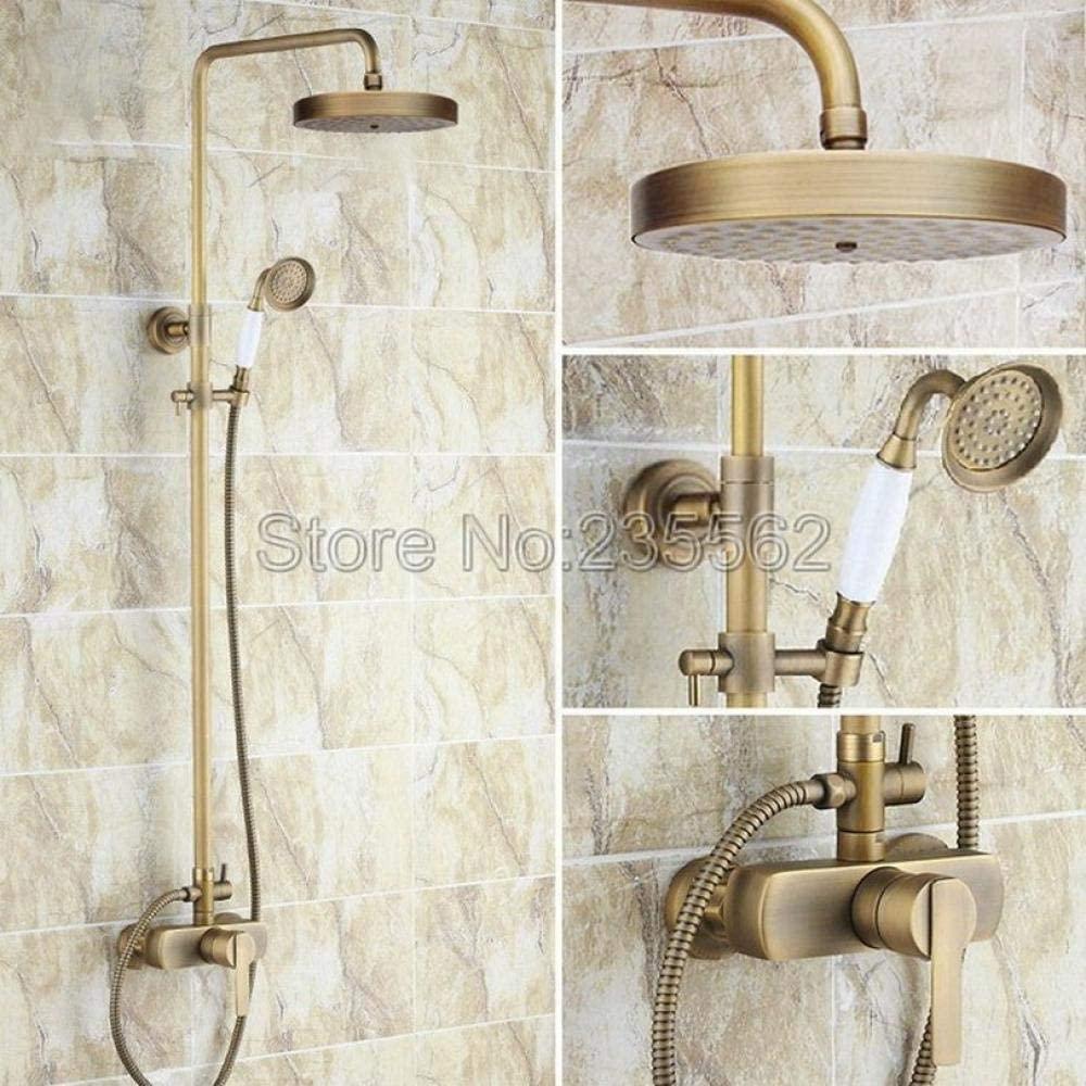 """7/"""" inch Round Antique Brass Bathroom Rainfall Shower Head"""