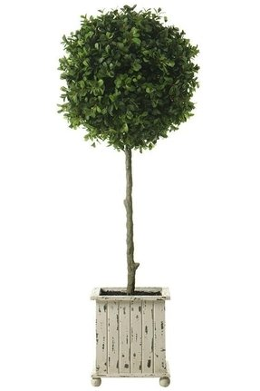 Artificial boxwood topiary trees