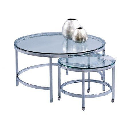 Bassett Mirror Co 2 Piece Patinoire Coffee Table Set 1