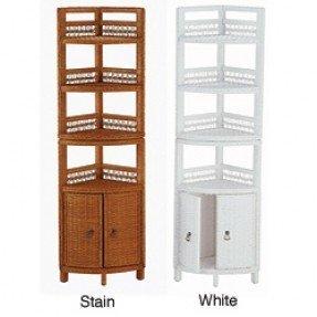 Bathroom Cabinet Storage On Wicker Two Door Bathroom Corner Shelf
