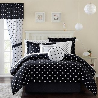Black And White Polka Dot Comforter Set Ideas On Foter
