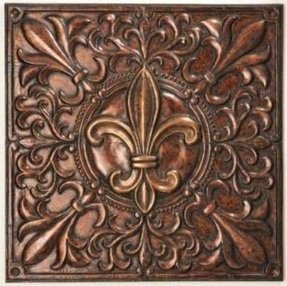 Brown metal wall art 19