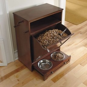 Cat litter box cabinet in mahogany modern pet accessories