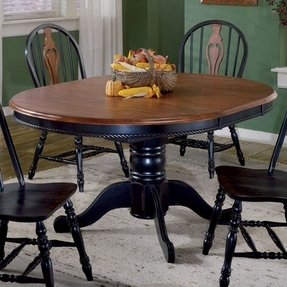Cherry pedestal dining table 4