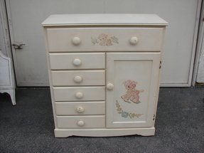 Childrens wardrobe with drawers