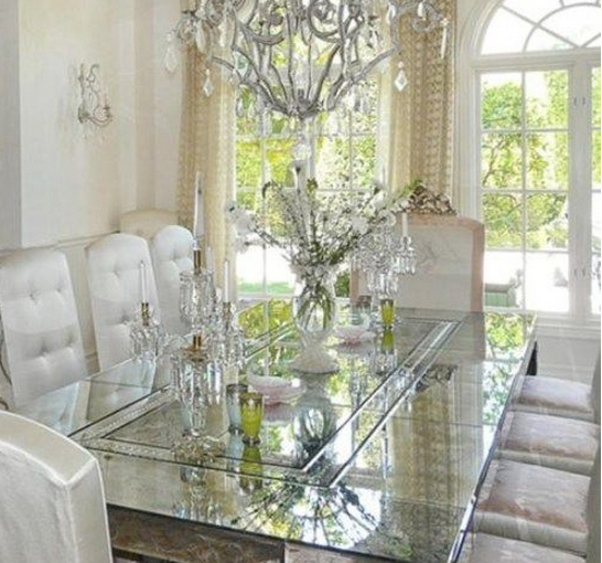 Clear Glass Dining Table