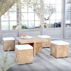Cool Coffee Table With Ottomans Underneath Ideas On Foter Ncnpc Chair Design For Home Ncnpcorg