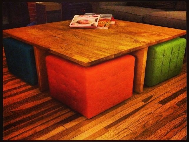 Coffee Table With Ottomans Underneath 4