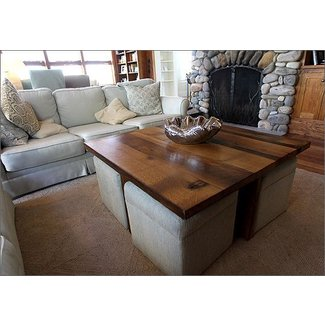 Coffee Table With Storage Ottomans Underneath 1