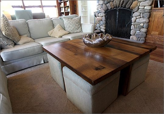 Superieur Coffee Table With Storage Ottomans Underneath 1